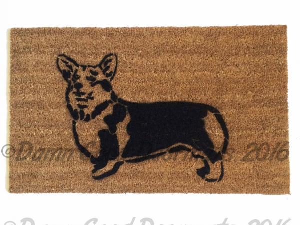 welsh corgi doormat pet portrait dog
