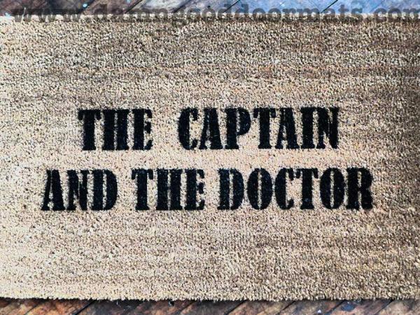 Dr Who doormat