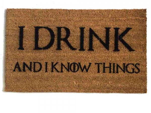 tyrion, i drink and i know things, game of thrones, got, door mat, doormat