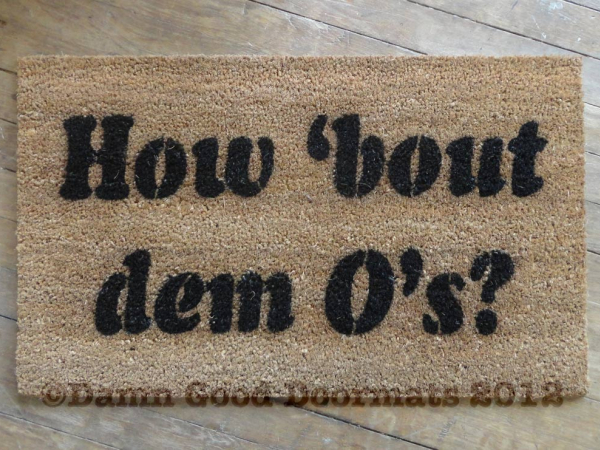 how 'bout dem O's? Baltimore Oriole's fan doormat