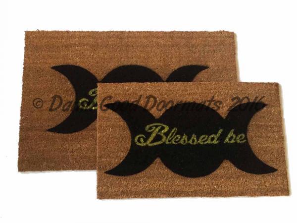Decorating Ideas > WICCAN Blessed Be Doormat  Damn Good Doormats ~ 004814_Large Halloween Doormats
