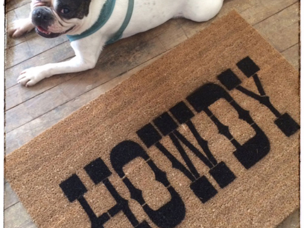 Howdy southern welcome doormat