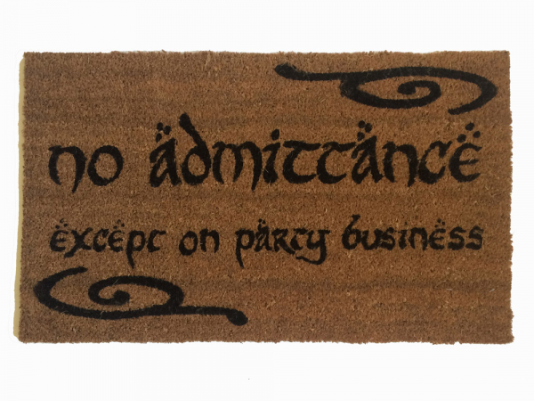 Tolkien Speak Friend And Enter Doormat Damn Good