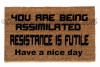 borg assimilated star trek doormat