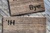 Hi Bye BLOCK doormat