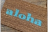 aloha tiki doormat welcome