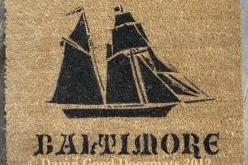Pirate ship doormat- The Pride of Baltimore