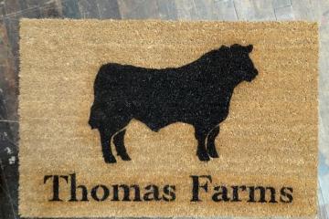 Custom Angus Bull doormat