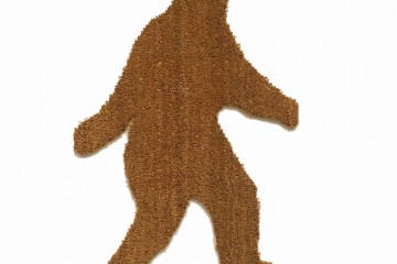 bigfoot doormat sasquatch