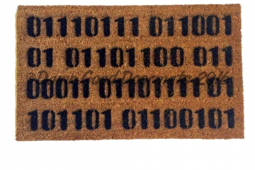Binary computer Welcome home doormat