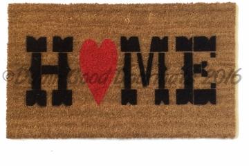 Country home heart doormat
