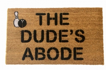 Bowling Big Lebowski Dude Door mat outdoor