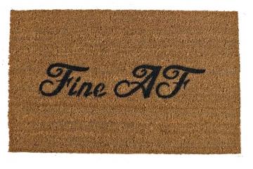 Fine AF sassy funny sexy rude funny novelty doormat