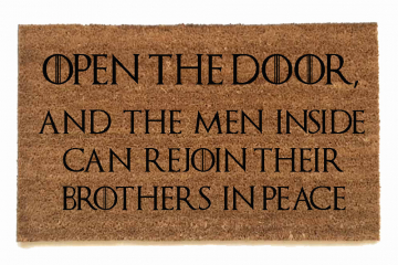 open the door, game of thrones, door mat, doormat, got