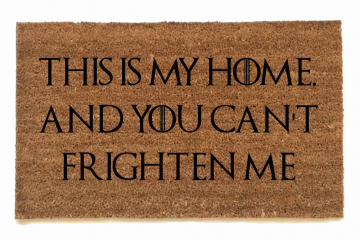 sansa stark, this is my home ,frightenme game of thrones, door mat, doormat, got