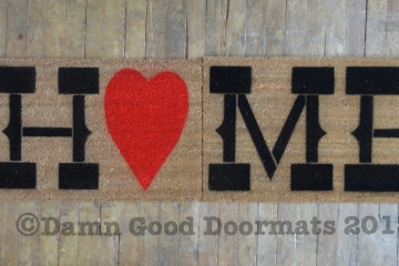 HUGE 60 inch wide Country home heart doormat