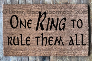 One RING to rule them all. Tolkien doormat-