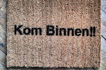 Kom Binnen Dutch Come In door mat