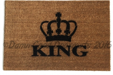 The King crown royal doormat