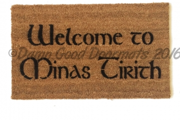 tolkien welcome minas tirith geek doormat