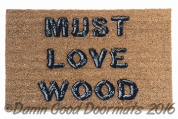 Must love wood michigan womyns festival doormat