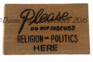 No politics doormat