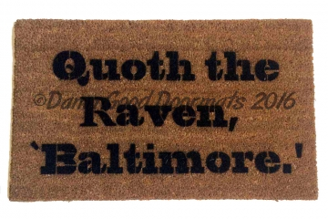 Superbowl  Baltimore Ravens Poe quote doormat