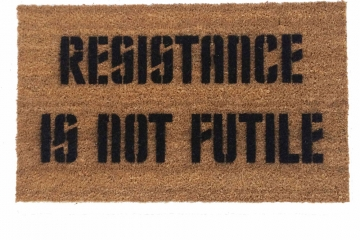 Resistance is NOT futile Borg doormat - nerd geek