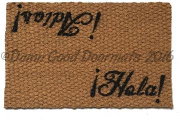 Spanish Hola Adios Hello/Goodbye doormat