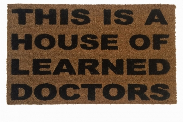 stepbrothers funny geek welcome rude go away outdoor coir doormat damn good welc