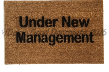 Under new management, housewarming doormat