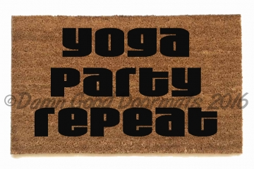 Yoga Party Repeat doormat