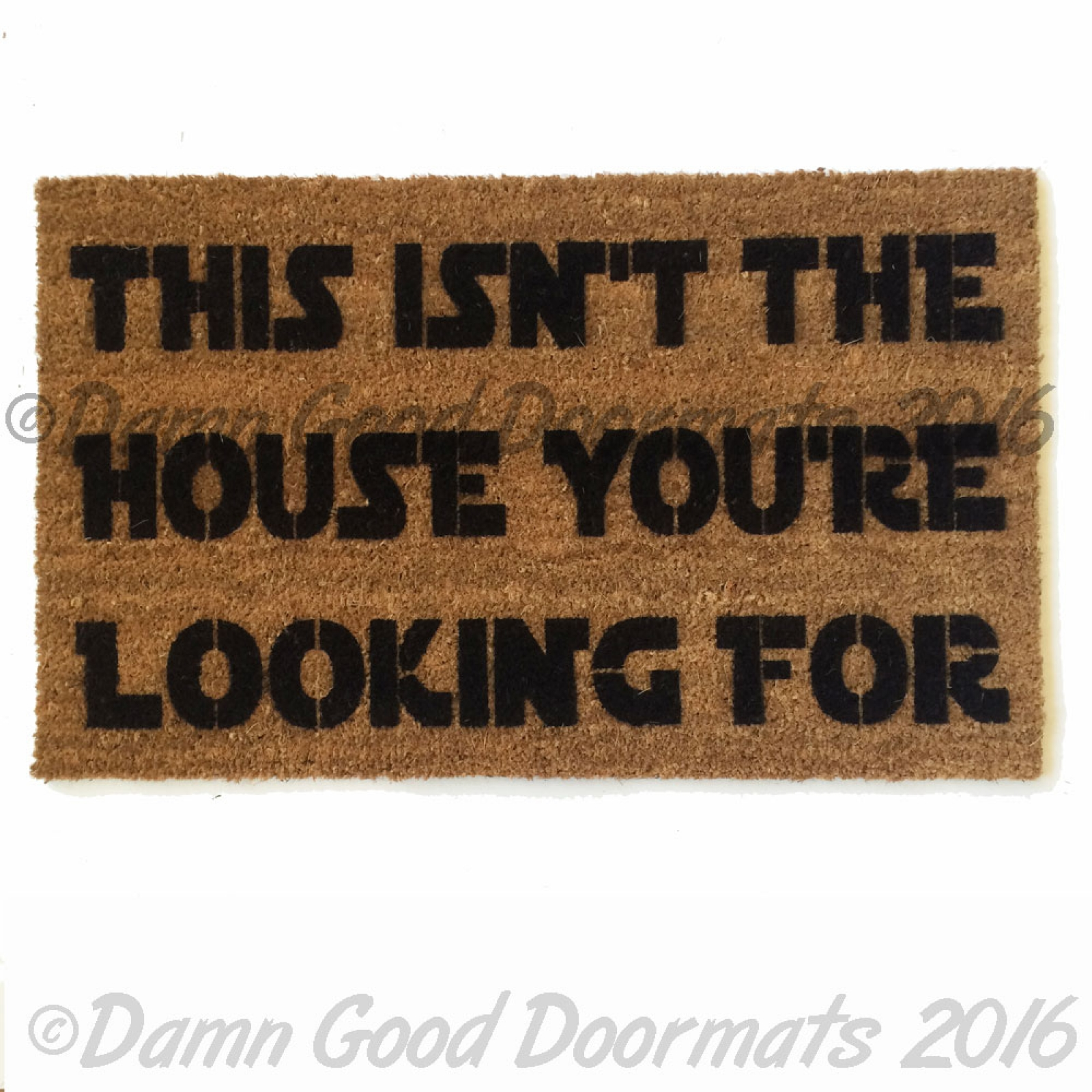 We have the droids you 39 re looking for scifi doormat damn good doormats - Geeky doormats ...