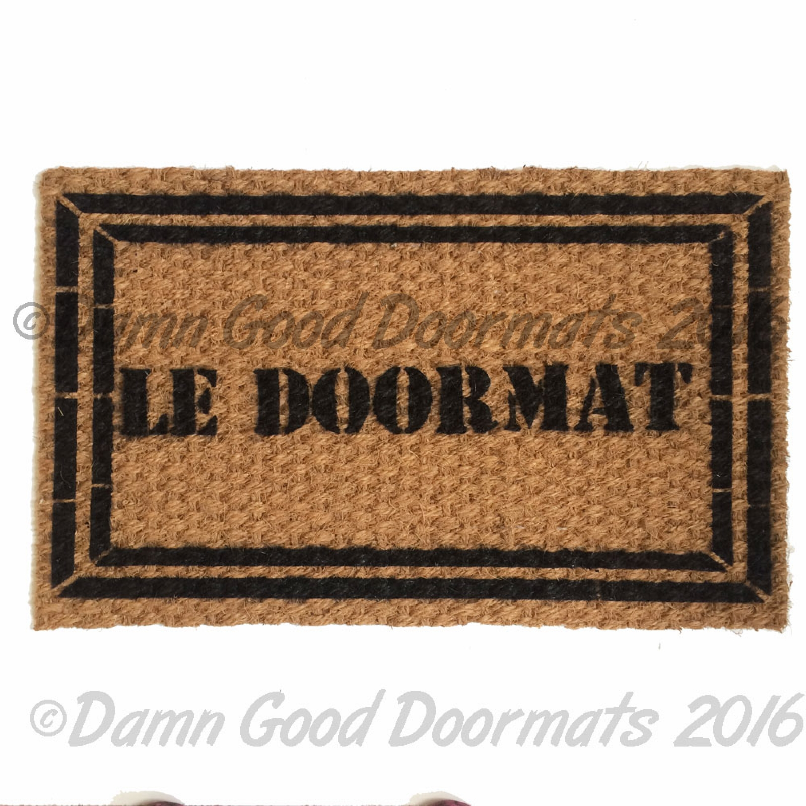 Attention Chat Lunatique French Crazy Cat Doormat