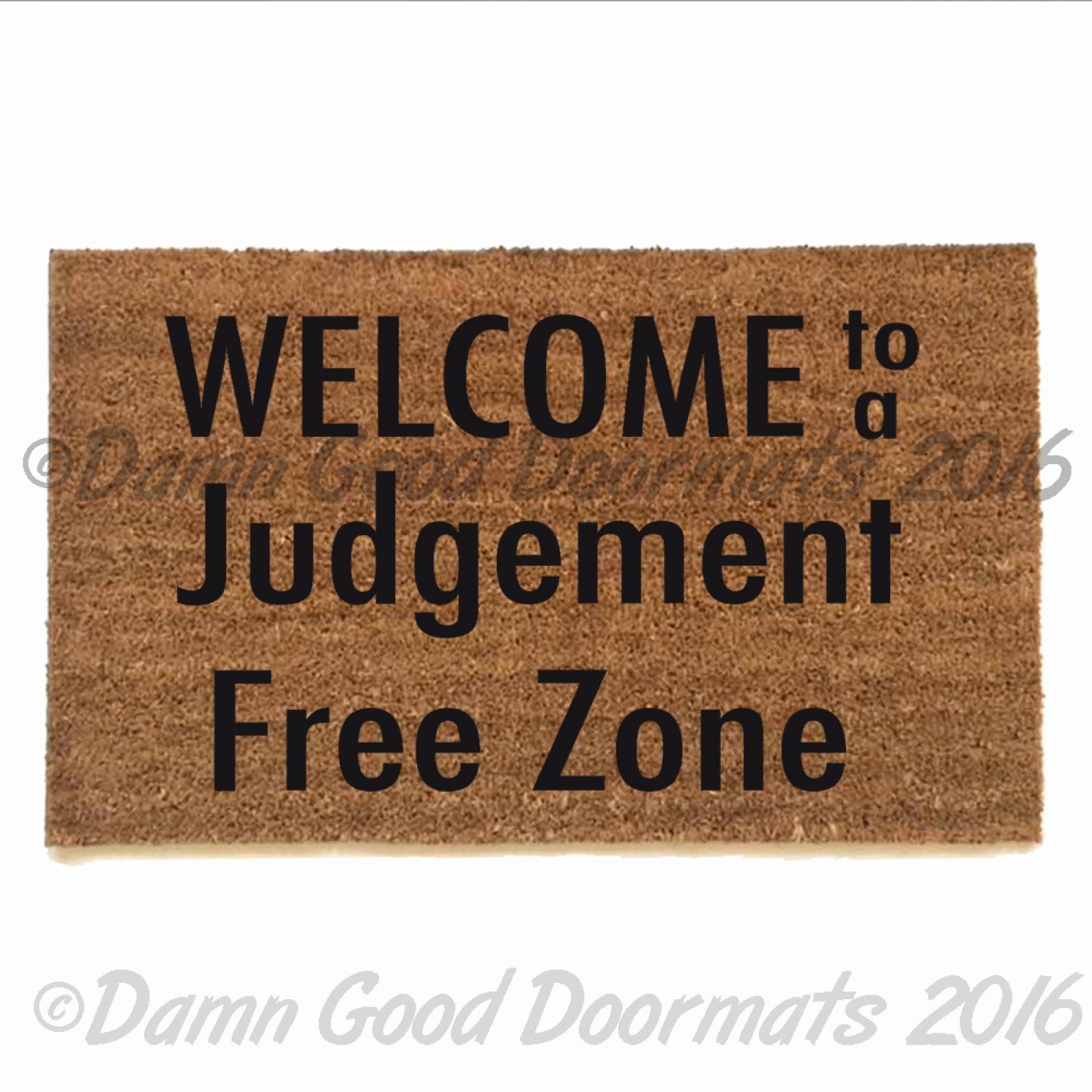 Asl American Sign Language Welcome Doormat Damn Good