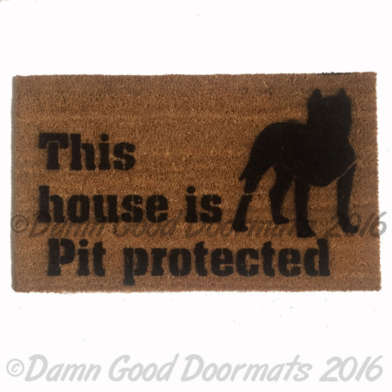 Dog Themed Outdoor Rugs: This House Is Pit Protected™ Doormat Safety Love Dog Door