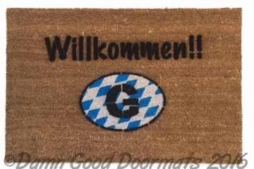 German Willkommen with FLAG