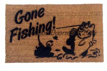 Gone Fishing doormat