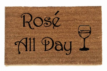 Rose all day™ wine lovers doormat