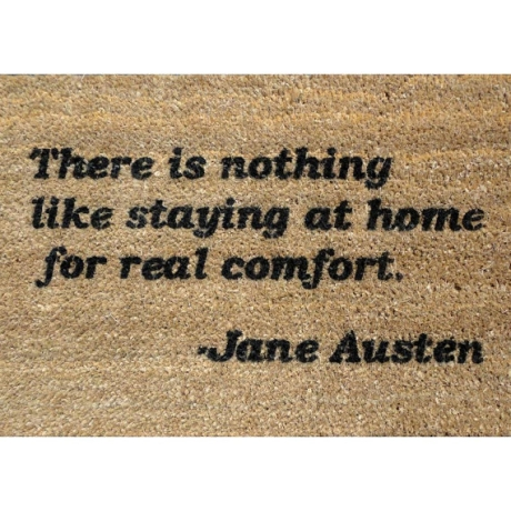 jane austen quote doormat