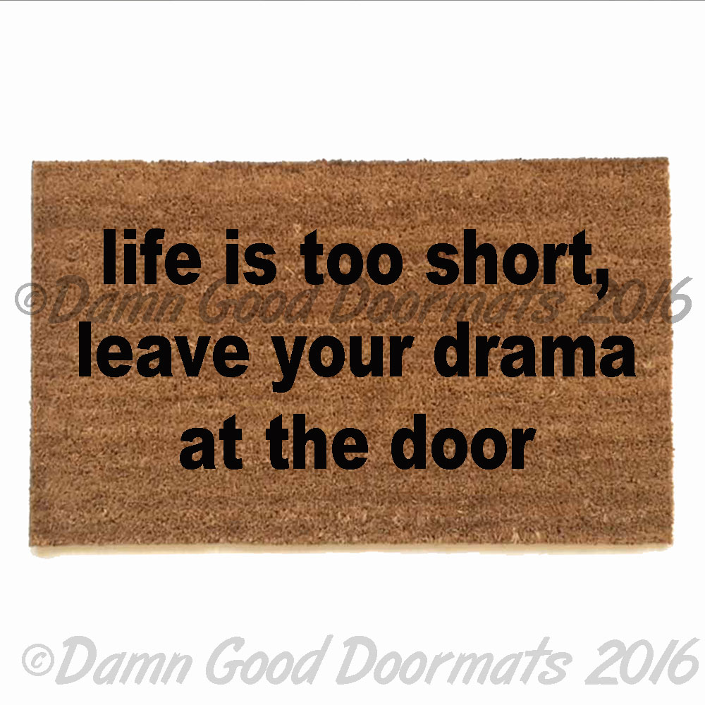 Now Entering Pronoun Free Zone Doormat From Damn Good