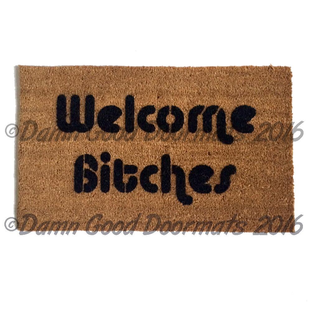 Welcome mother fucker rude mature funny doormat damn good doormats - Offensive doormats ...