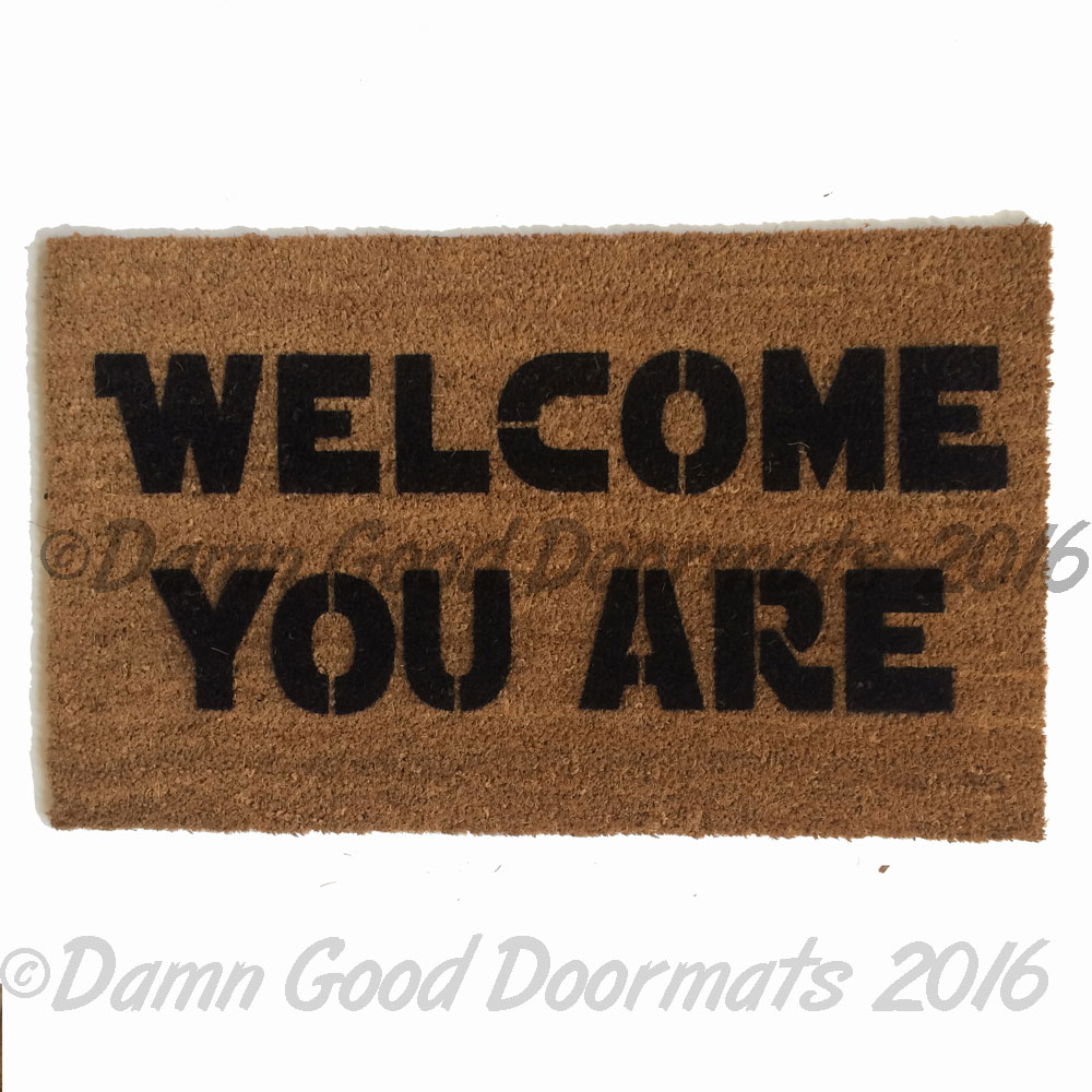 Welcome to the dork side doormat damn good doormats - Geeky doormats ...