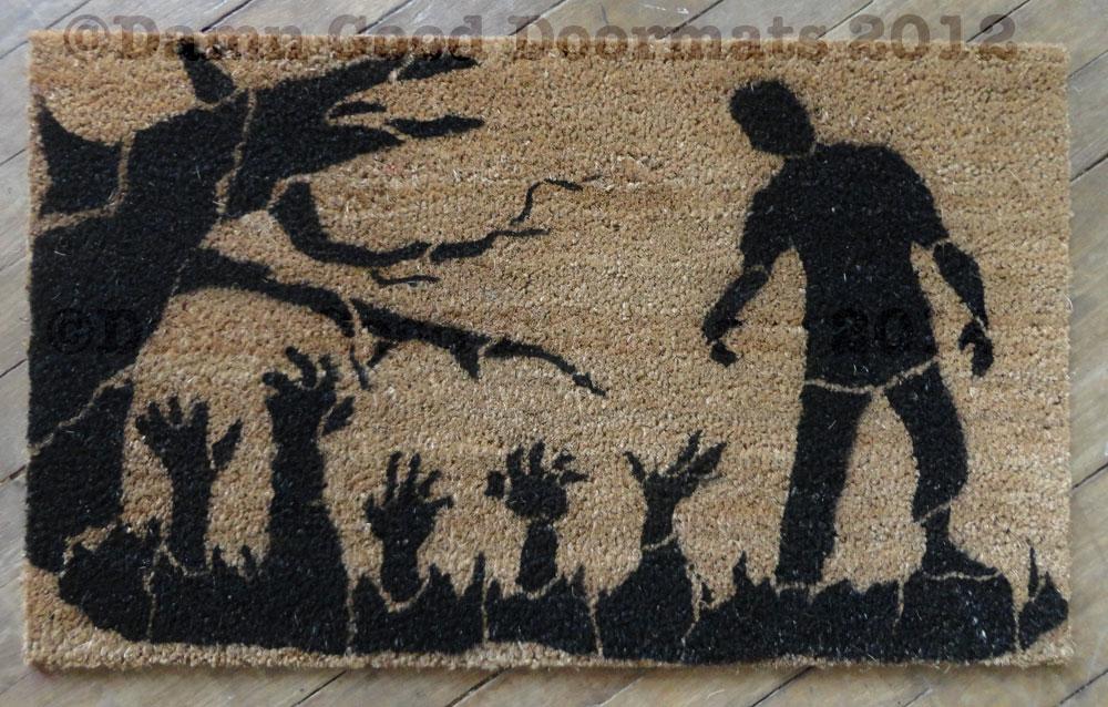 Decorating Ideas > Zombie Doormat  Damn Good Doormats ~ 004814_Large Halloween Doormats